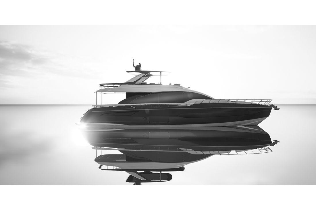 Моторная яхта Azimut 78 Fly — флагман поколения Carbon-Tech